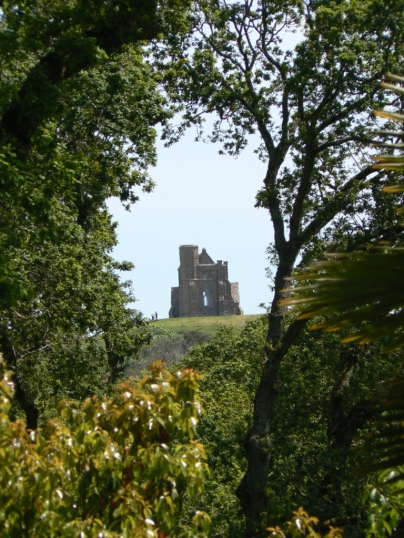 St Catherine's Chapel seen through the trees