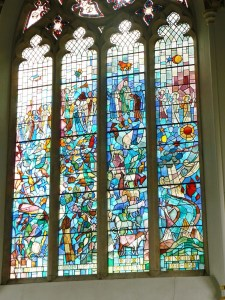 Creation window at Cirencester Agricultural College