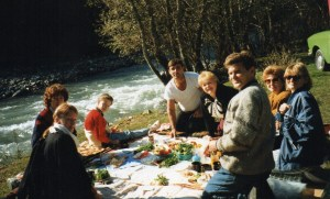 Colleagues and friends in Krasnayapolyana in 1995