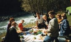 Igor, Natalya, Liz and friends picnic Russian style