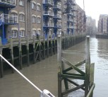 St Saviour's Wharf. This is the area Charles Dickens knew well and he used it as the site of Bill Sykes' murder!