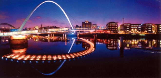 Millennium Bridge Illuminated