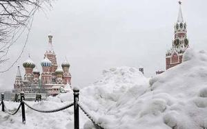 St Basil's in Red Square in the snow