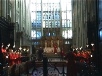 The choir singing in Gloucester Cathedral (2003)