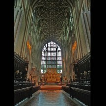 The Quire of Gloucester cathedral looking East