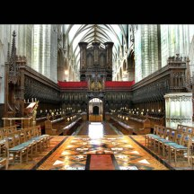 The Quire of Gloucester Cathedral looking West