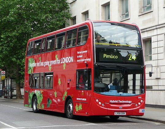Red London Bus ~ Number 24 (1/2)
