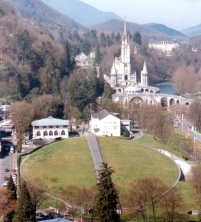 A birds eye view of Lourdes