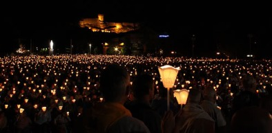 Candlelit procession in Lourdes