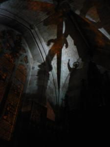 Shadows in Worcester cathedral