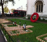 Wreaths and london Bus