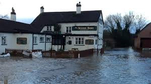 flooding in Gloucestershire 2 ~ the pub