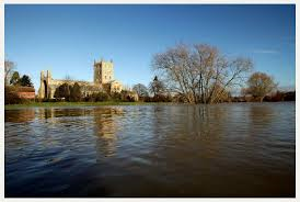 Flooding in Gloucestershire 3 ~ Tewkesbury Abbey