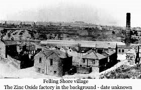 felling shore and zinc oxide factory
