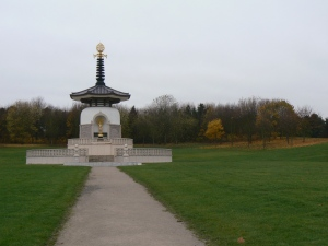 Buddhist temple in Willan, UK