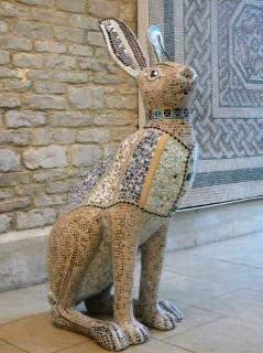 Tess covered in Mosaics at the Corinium Museum
