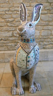 Tess covered in Mosaics at the Corinium Museum