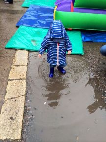 Splashing in puddles is fun