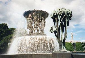 Sculpture by Gustav Vigeland in Oslo park