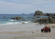 Lifeguards at trevaunance Cove