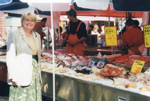 Shopping for Salmon in Bergen Market