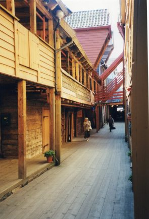 shopping in the old town of Bryggen