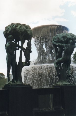 The famous sculptures, Vigelandsparken, Norway