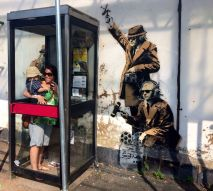 Banksy with family