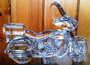 Glass motorbike