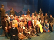 The whole cast after the show