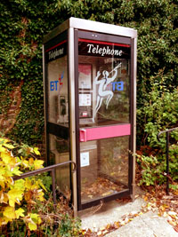modern telephone booth