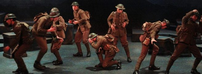 Young soldiers acting
