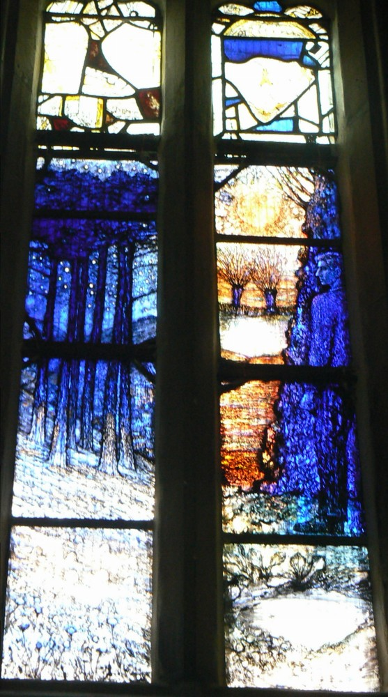Stained Glass Window in memory of Ivor Gurney, WW1 Composer and Poet of Gloucestershire (5/6)