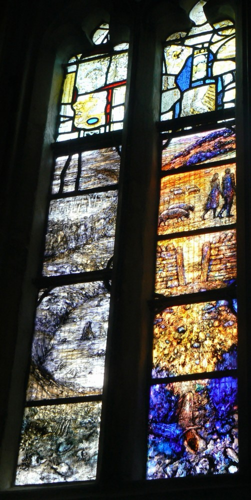 Stained Glass Window in memory of Ivor Gurney, WW1 Composer and Poet of Gloucestershire (6/6)