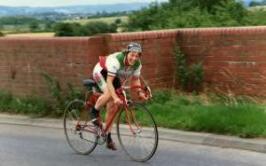 My Friend Pat on her bike
