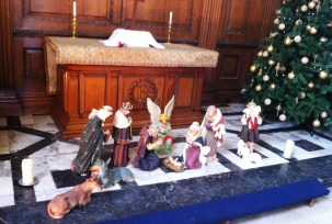 Nativity scene in the chapel