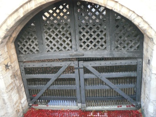 The saddest door of all ~ Traitor's gate at Tower of london