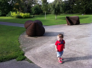 grandson in Sandford Park