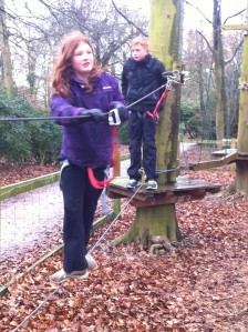 Ben and Rosie set out on a treetop adventure