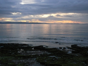 Sunsets over the sea  at Findhorn, Scotland
