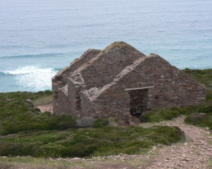 Derelict mine workings in Cornwall