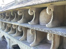 Bee Baskets in the bee wall