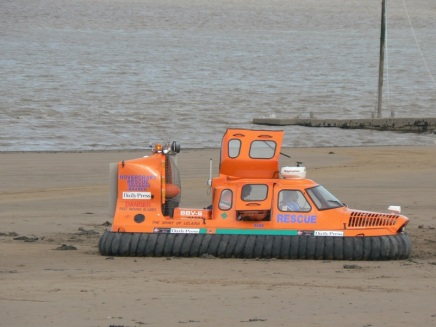 Hovercraft designed for rescue at sea where there are mudflats or quicksand as in Somerset