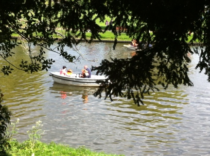 boats on the Avon at Stratford
