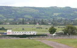 Cheltenham Racecourse in distance