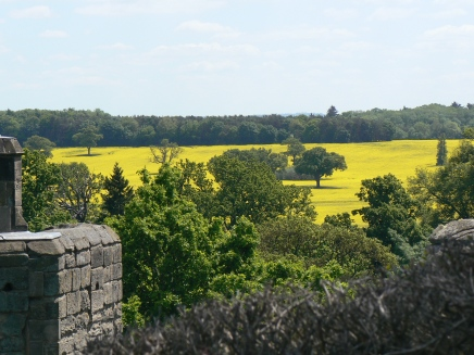 Seen from Warwick castle