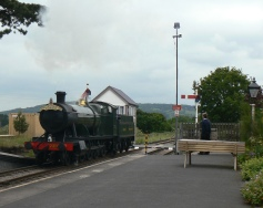 Steam Engine coming into Cheltenham Racecourse Station