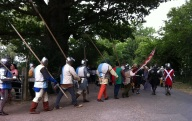 medieval soldiers and hangers on