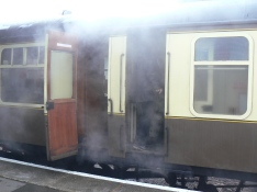 Open Carriage Door on Steam Train at Toddington Railway