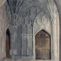 Doors Painted by Fr Stephen Horton OSB of Prinknash Abbey